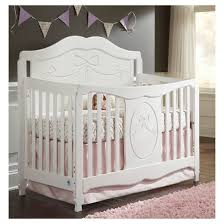 storkcraft princess 4 in 1 fixed side convertible crib white