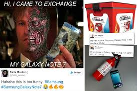 Galaxy Note Meme - web users mock recalled samsung galaxy note 7 with hilarious memes