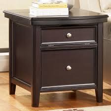 end table with outlet carlyle chairside end table with electrical outlet and file