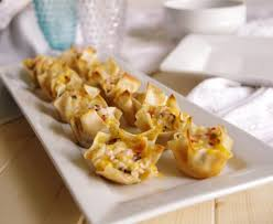 easy appetizers crab and cheddar baked wonton purses appetizer recipe our family