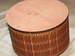 lasercut round box 150 diameter use 3mm material mdf or ply best