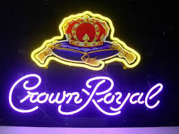 cheap light up beer signs new crown royal light neon beer sign bar pub sign real glass neon