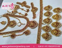 bridal wedding necklace set images Complete south indian bridal set in mumbai india janhavi art jpg