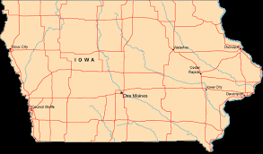 map us iowa map of iowa