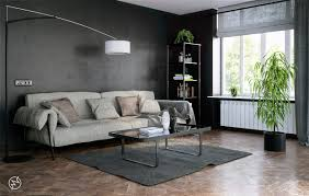 Bedroom Ideas White Walls And Dark Furniture Black Walls Living Room Glass Windows Dark Chairs White Wall Lamp