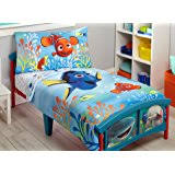 Youth Bedding Sets Amazon Com Disney Finding Dory Bubbles 4 Piece Toddler Bedding