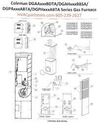 coleman stove manual dgaa070bdta coleman gas furnace parts u2013 hvacpartstore