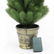 2ft potted pre lit artificial tree pe trees