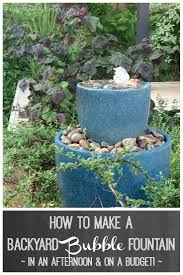 how to make a backyard bubble fountain in an afternoon u0026 on a