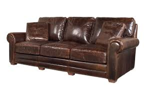 Leather Sofa With Pillows by Traditional Top Grain Leather Distressed Sofa Safavieh Com