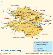 road map up allahabad road map road map of allahabad allahabad road atlas