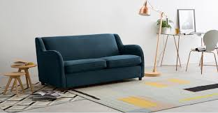 Velvet Sofa Bed Helena Sofabed Plush Teal Velvet Made