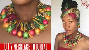 african bead necklace images Diy ankara african print ruffle beaded necklace jpg