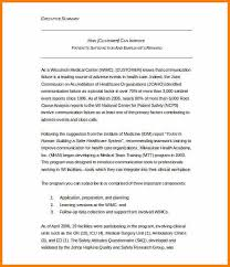 5 executive summary template resume reference