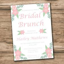 bridal luncheon invitations templates bridal brunch invitation niengrangho info