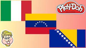 Venezuela Flag Colors Play Doh Flags Italy Venezuela Bosnia And Herzegovina Ewmj