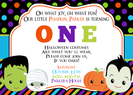 Happy Birthday Halloween Pictures First Birthday Halloween Party Invitation Halloween Birthday