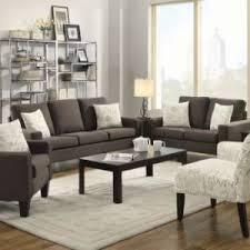 f6562 poundex blue grey polyfiber 2 pieces sofa loveseat set jendiz