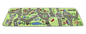 Car Play Rugs Amazon Com Learning Carpets Giant Road Lc 124 Toys U0026 Games