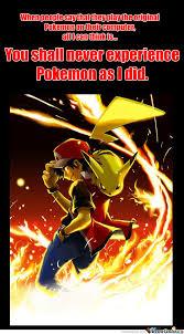Pokemon Trainer Red Meme - pokemon as i played it pok礬mon plays and pokemon stuff