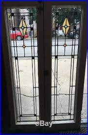 stained glass cupboard doors antique 1920 u0027s chicago stained leaded glass door window cabinet