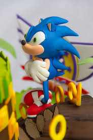 sonic cake topper this sonic the hedgehog cake cant be beat between the pages