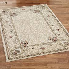 Black And Beige Area Rugs Imogene Garden Acanthus Leaf Scroll Area Rugs