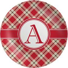 personalized melamine platter plaid melamine plate personalized baby n toddler