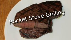 grilling on the rocket stove grill youtube