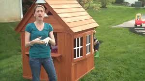 backyard discovery timberlake all cedar wood playhouse youtube