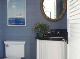 nautical themed home decor beach style powder room burnham design