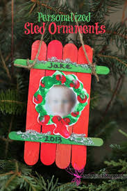 sled craft ornament parent gifts craft sticks and child care
