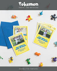 pokemon trading card invitation templates pokemon trading card
