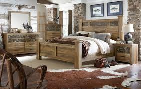 habitat rustic buckskin poster bedroom set from standard furniture
