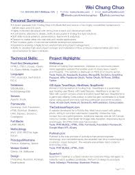 Resume For Artist Wei Chung Chuo Front End Developer Resume 1 638 Jpg 638 826