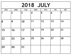 printable calendar pages july 2018 printable calendar word excel pdf pages
