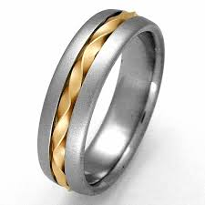 titanium wedding rings for men genoa 1 titanium ring with gold titanium wedding rings