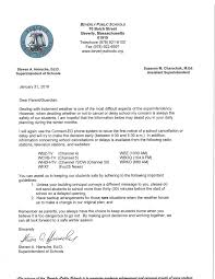 Kindergarten Cancellation Letter inclement weather information beverly schools