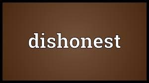 dishonest meaning youtube