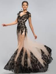 jewel neckline appliques court train evening dress designed