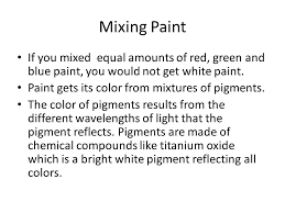 light and color an objects color depends on the wavelength of