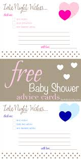free printable baby shower advice u0026 best wishes cards fantabulosity