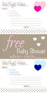free printable baby shower advice u0026 best wishes cards fantabulosity