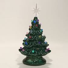mini christmas tree with lights 6 green with multi lights extra small christmas tree clay forge
