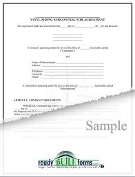Siding Estimate Template by Subcontractor Vinyl Siding Agreement Now