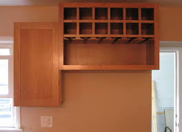 Kitchen Refrigerator Cabinet Beautiful Brown Color Kitchen Wine Rack Cabinet Features Diagonal