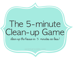 clean up the house in 5 minutes or less ask anna