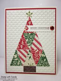 stampin u0027 up christmas by stamp with sandy quilted christmas tree
