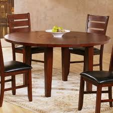 Oak Drop Leaf Dining Table Homelegance Ameillia Drop Leaf Round Dining Table In Dark Oak