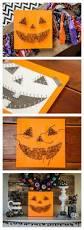 diy jack o lantern string art string art craft and halloween diy